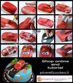 lightning mcqueen car fondant signs - Google Search