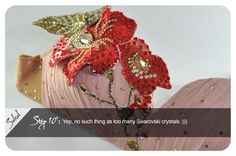 AMAZING work - tutorial for 3-D rhinestone flowers for costumes