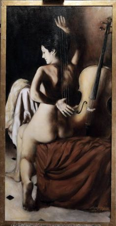 """Painting, """"The tow Cellos. Cellos, Oil On Canvas, Saatchi Art, Artworks, Original Paintings, Artist, Cello, Artists, Art Pieces"""