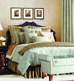 Jennifer Taylor 10 Pcs Comforter Set,Oversize King, SAVANNAH Collection, Jennifer Taylor 10-piece Comforter Set, Oversize King, SAVANNAH Collection, Seamiest Green, (Includes 1 Comforter 110''X96'', 1 Bed Skirt 78''X80''+18'', 3 Euro Shams 26''X26'', 2 King Shams 21''X37''..., #Home & Garden, #Comforter Sets, $931.00