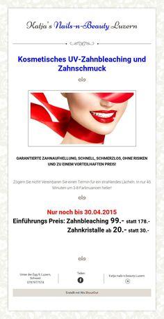 Katja'sNails-n-BeautyLuzern / Zahnbleaching und Zahnschmuck Beauty, Running Away, Lucerne, Action, Beauty Illustration