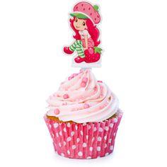 Strawberry Shortcake cupcake idea