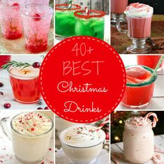 These festive drinks will be the hit of your Christmas party and bring holiday cheer to all of your guests. These are the best Christmas drink recipes from punch to hot chocolate and alcoholic drinks! Christmas Cocktail Party, Christmas Cocktails, Holiday Drinks, Christmas Treats, Christmas Fun, Christmas Foods, Fig Wine, Strawberry Banana Milkshake, Christmas Cooking