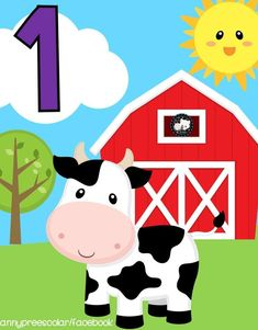 Learning Numbers, Math Numbers, Farm Animal Crafts, Farm Animals, Classroom Calendar, Classroom Decor, Educational Activities For Kids, Baby Learning, Teaching Kids