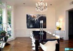 dinning room black  white #rachelzoe