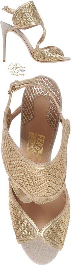 Brilliant Luxury ♦ Salvatore Ferragamo gold sandal