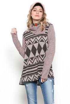 1e2327f367e Kaylee Cowl Neck Shirt   Mauve Cowl Neck