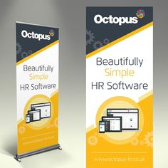 Eye Catching Pop Up Banner To Show Off Our Gorgeous HR System by axis Designz