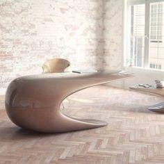 Attractive Futuristic Desks | contemporary desks, futuristic couch, futuristic furniture, futuristic furniture store, futuristic office furniture, futuristic white desk, futuristic wooden desk, futuristic work desk, modern desks