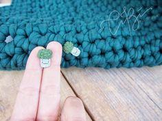 Stud Earrings, Handmade, Etsy, Vintage, Instagram, Jewelry, Green, Hand Made, Jewlery