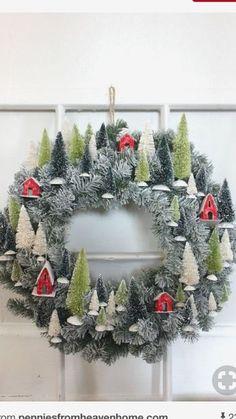 Christmas DIY : - Ask Christmas - Home of Christmas Inspiration & Deals Christmas Projects, Christmas Crafts, Christmas Ornaments, Christmas Wreath With Ornaments, Christmas Shirts, Noel Christmas, Winter Christmas, Outdoor Christmas, Christmas Heaven