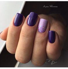 Manicure design – The Best Nail Designs – Nail Polish Colors & Trends Purple Gel Nails, Purple Nail Art, Purple Nail Designs, Nail Designs Spring, Nail Art Designs, Purple Makeup, Purple Nails With Design, Purple Wedding Nails, Gel Manicure Designs