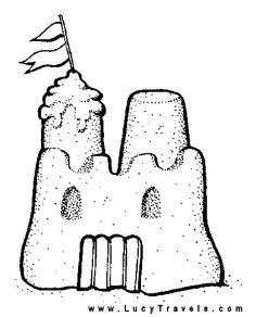 Sand Castle Outline Royalty Free Stock Image - Image: 21297536