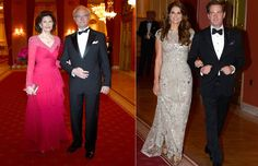 Los Reyes de Suecia, y Magdalena de Suecia y Chris O'Neill, durante la cena de gala celebrada en Estocolmo el día previo a la Boda Real de la princesa