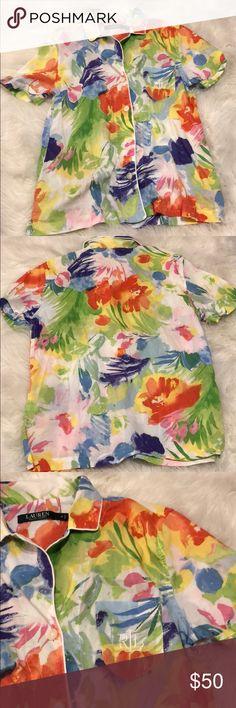Ralph Lauren button up Excellent condition Lauren Ralph Lauren Tops Button Down Shirts