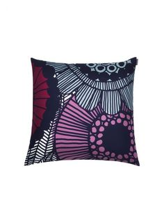 Marimekko throw pillows in a variety of designs. Choose from over 30 Marimekko throw pillows for your seating, bedroom or as a home accent. Purple Throw Pillows, Throw Cushions, Marimekko, Scandinavia Design, Muuto, Living Room Inspiration, Home Collections, Cushion Covers, Pillow Shams