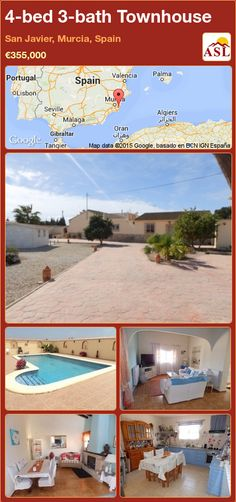 Unspecified for Sale in San Javier, Murcia (Costa Calida), Spain with 4 bedrooms, 3 bathrooms - A Spanish Life Valencia, Portugal, Murcia Spain, Sauna Room, Double Garage, Summer Kitchen, Gas Fires, Family Bathroom, Central Heating