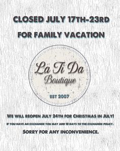 See you next week @latida_boutique #vacationtime
