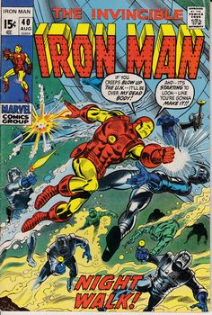 Iron Man 40 August 1971 Issue  Marvel Comics  Grade by ViewObscura
