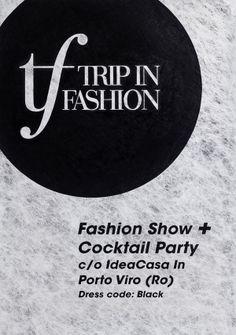 Trip in Fashion - Fashion Show Event Identity - Print design - Handmade Poster