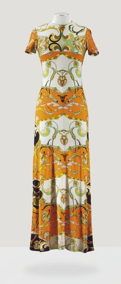 DOMITILLA, CIRCA 1966 A PRINTED SILK JERSEY PUCCI-STYLE EVENING DRESS, FROM THE WARDROBE OF THE DUCHESS OF WINDSOR