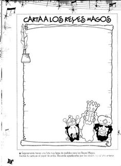 Resultado de imagen de carta a los reyes magos para imprimir en blanco y negro