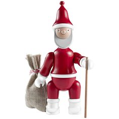 Rosendahl - Kay Bojesen - Santa Claus with Bag and Walking Stick by Kay Bojesen Denmark