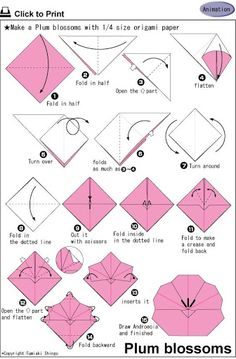 Origami on pinterest origami boxes origami flowers and - Origami rose facile a faire ...