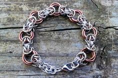 Byzantine Rose - Stainless steel, bright aluminum, and anodized aluminum. $50 Byzantine, Rosettes, Stainless Steel, Charmed, Bright, Chain, Bracelets, Jewelry, Bangles