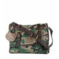 Loungefly Hello Kitty Camo Messenger Bag Purse - Purple Leopard Boutique