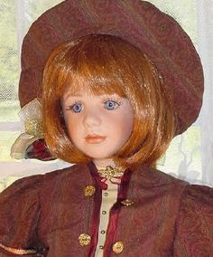 "Nicole - 23"" Limited Edition porcelain head doll by artist Emily Phelps Garthright"