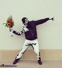 Banksy's Flower Thrower - Creative Halloween Costume Idea