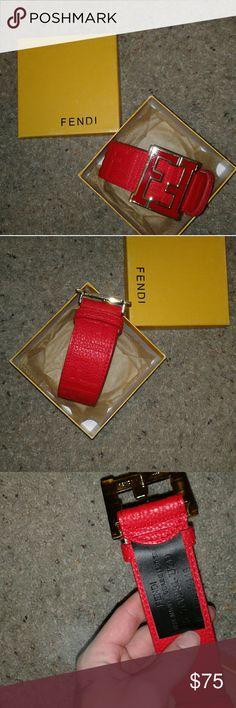 Fendi Belt. Red Fendi belt, comment the size you need. Fendi Accessories Belts