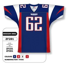 90fef9ef0 Custom sublimated football jersey design 0901 includes all decoration dyed  directly into fabric.