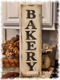 Farmhouse Style BAKERY SIGN from A Gathering Place