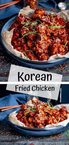 The best Korean Fried Chicken - Crispy coated buttermilk fried chicken smothered in a spicy Korean Gochujang sauce This stuff is INSANELY good koreanfriedchicken koreanchicken friedchicken spicychicken buttermilkchicken gochujang Korean Fried Chicken, Fried Chicken Recipes, Spicy Recipes, Asian Recipes, Cooking Recipes, Korean Chicken Marinade, Best Food Recipes, Easy Korean Recipes, Asian Chicken