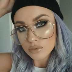 Aviator glasses are all the rage these days, and they're perfectly suited for both men and women. Originally designed to protect airplane pilots from the damaging effects of UV-rays and the blinding g