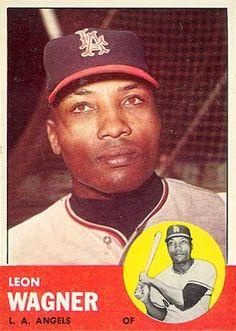 1963 Topps Leon Wagner
