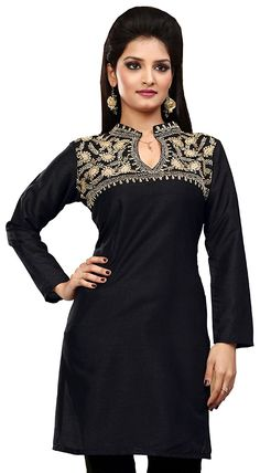 72e38b9398b6c Silk Indian Tunics Kurti Top Long Blouse Womens Embroidered India Clothing  at Amazon Women's Clothing store