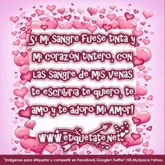 Bonitas letras de amor