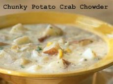 Chunky Potato Crab Chowder - now I'm looking forward to Winter!