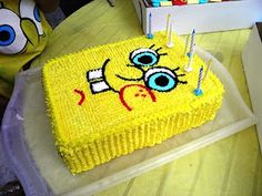 Coolest Spongebob Squarepants Birthday Cake Spongebob