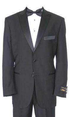 Perry Ellis 1 Button Black Notch Tuxedo Coat Lightweight wool NICE TUXXMAN