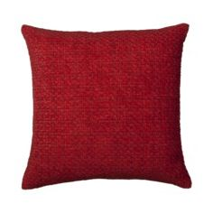 Home Solid Chenille Toss Pillow - Red