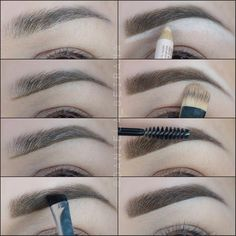"""""""Step by step using @anastasiabeverlyhills brow wiz pencil, brow powder duo to fill in and brow gel to set the hairs in place all day. #pictureoftheday…"""""""