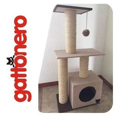 Rascadores Juguetes Para Gatos Gattonero (sisal Y Alfombra) Cat Gym, Homemade Cat Toys, Diy Cat Tree, Cat Hacks, Cat Towers, Cat Playground, Cat Condo, Pet Furniture, Cat Wall