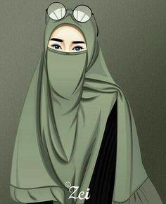 Hijabi Girl, Girl Hijab, Beautiful Muslim Women, Beautiful Hijab, Arab Girls, Muslim Girls, Tmblr Girl, Caricature, Hijab Drawing