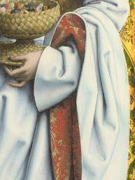 Detail from Saints Peter and Dorothy  probably 1505-10, Master of the Saint Bartholomew Altarpiece