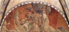 Paolo Uccello - The Flood, 1447-48. Fresco 84 5/8 x 200 3/4 inches. Choistro Verde, Santa Maria Novella, Florence, Italy