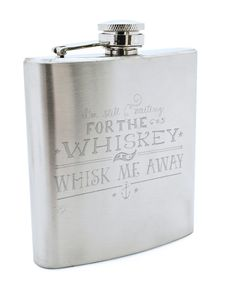 whiskey flask.
